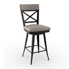 "<strong>Amisco</strong> Library Luxe  26"" Windsor Swivel Bar Stool"