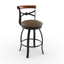 Library Luxe Style Bourbon Swivel Stool