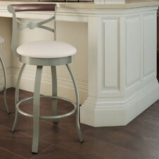 "Library Luxe Style 26"" Bourbon Swivel Bar Stool"