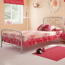 Serpentine Twin Metal Headboard/Footboard