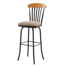 "Tammy 34"" Swivel Barstool with Memory Return"