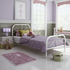 <strong>Amisco</strong> Ballerina Twin Size Metal Headboard and Footboard