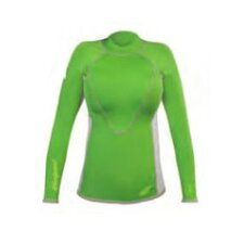 1.5mm XSPAN Women's Long Sleeve Top Wetsuit in Green