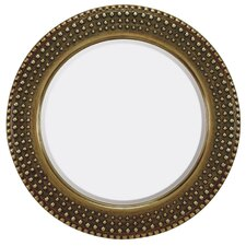 <strong>Majestic Mirror</strong> Traditional Round Bevel Wall Mirror