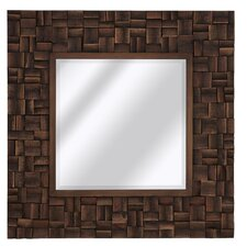 Mixed Media Rectangle Bevel Wall Mirror