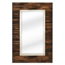 <strong>Majestic Mirror</strong> Mixed Media Rectangular Bevel Wall Mirror