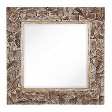 Mixed Media Natural Wood Mirror