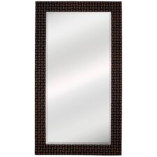 <strong>Majestic Mirror</strong> Contemporary Beveled Mirror in Wenge