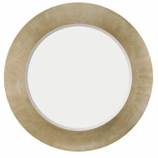 Contemporary Beveled Round Mirror