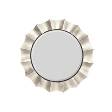 <strong>Majestic Mirror</strong> Contemporary Round Bevel Wall Mirror