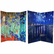"70.88"" x 63"" Works of Van Gogh 4 Panel Room Divider"