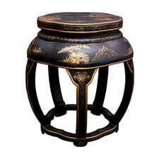 <strong>Oriental Furniture</strong> Asian Lacquer Blossom Stool