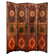 "72"" x 63"" Olde-Worlde Baroque 4 Panel Room Divider"