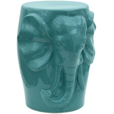 Carved Elephant Porcelain Garden Stool
