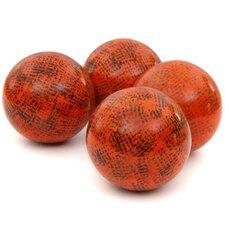 Sponged Porcelain Decorative Ball (Set of 4)