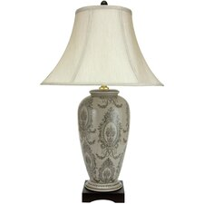 <strong>Oriental Furniture</strong> Victorian Porcelain Vase Table Lamp