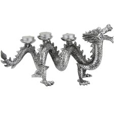 <strong>Oriental Furniture</strong> Plated Dragon Figurine