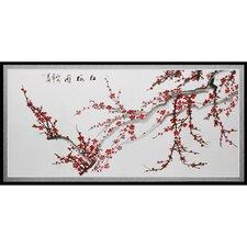 Plum Blossoms Framed Painting Print