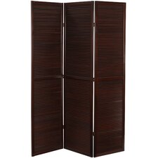 "<strong>Oriental Furniture</strong> 70.25"" x 47.25"" Double Venetian 3 Panel Room Divider"