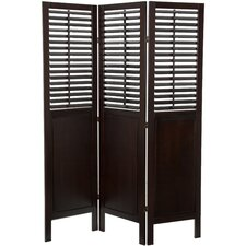 "<strong>Oriental Furniture</strong> 70.75"" x 52.5"" Dutch Shutter 3 Panel Room Divider"