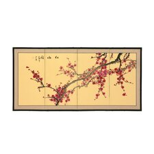 "18"" x 36"" Blossom 4 Panel Room Divider"