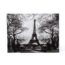 "<strong>Oriental Furniture</strong> Eiffel Tower Park Canvas Wall Art - 23.5"" x 31.5"""