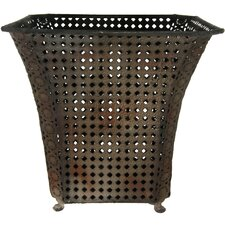 <strong>Oriental Furniture</strong> Wrought Iron Waste Basket