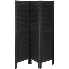"<strong>Oriental Furniture</strong> 67"" x 50"" Venetian Tall Modern 3 Panel Room Divider"