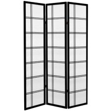"71"" x 47.25"" Double Cross 3 Panel Room Divider"