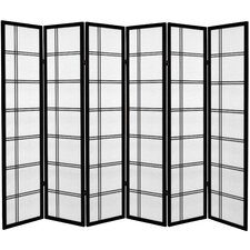 "71"" x 94.5"" Double Cross 6 Panel Room Divider"