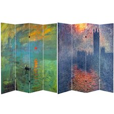 6 Feet Tall Double Sided Impression Sunrise / Houses of Parliament Room Divider