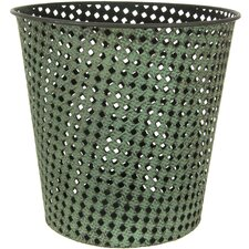 <strong>Oriental Furniture</strong> Round Wrought Iron Waste Basket