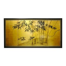 "24"" Leaf Bamboo 4 Panel Room Divider"