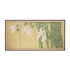 "24"" Bamboo Escape 4 Panel Room Divider"