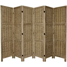 "67"" Tall Bamboo Matchstick Woven 6 Panel Room Divider"