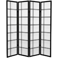 "<strong>Oriental Furniture</strong> 71"" Double Cross 4 Panel Room Divider"