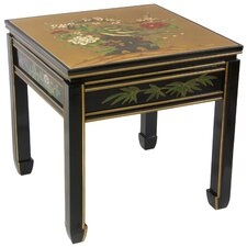 <strong>Oriental Furniture</strong> Gold Leaf Ming Table