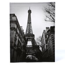 Eiffel Tower Sun Glow Photographic Print on Canvas