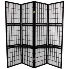 "70.75"" x 69"" Window Pane 4 Panel Room Divider"