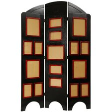 "<strong>Oriental Furniture</strong> 67.5"" x 45"" Arc Top Photo Display 3 Panel Room Divider"