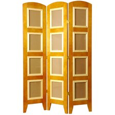 Photo Display Low Room Divider in Honey