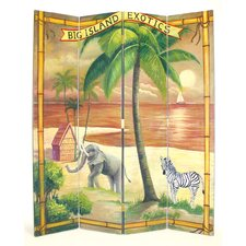 "72"" x 64"" Big Island Screen 4 Panel Room Divider"