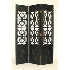 "<strong>Oriental Furniture</strong> 78"" x 54"" Spider Web 3 Panel Room Divider"