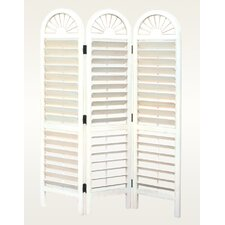 """72"""" x 54"""" Royal Viennese Louvre 3 Panel Room Divider"""