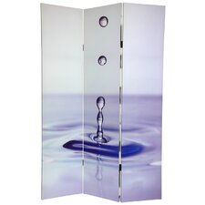 "72"" x 48"" Zen Double Sided Water 3 Panel Room Divider"