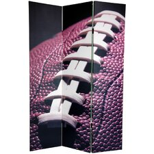 "<strong>Oriental Furniture</strong> 72"" x 48"" Double Sided Football 3 Panel Room Divider"