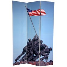 "72"" x 48"" Double Sided Memorial 3 Panel Room Divider"