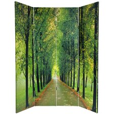 """70.88"""" x 63"""" Double Sided Path of Life 4 Panel Room Divider"""