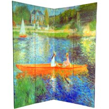 "72"" x 64"" Double Sided Works of Renoir 4 Panel Room Divider"