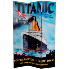 6 Feet Tall Double Sided Titanic/Penn Station Room Divider